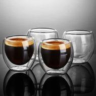 فنجان دوجداره شیشه ای 6 عددی + خرید پستی