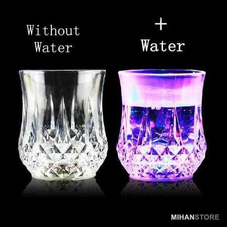 لیوان چراغدار با LED هفت رنگ