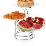 خرید پستی دیس پایه دار میوه و شیرینی سه تایی