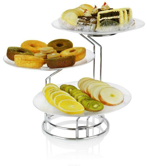 خرید دیس پایه دار میوه و شیرینی خوری سه تایی