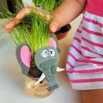 خرید سبزه عروسکی طرح فیل برای سفره هفت سین سال 97