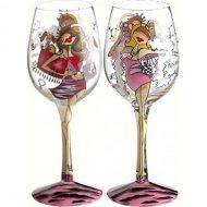 لیوانهای گیلاس کادویی طرح دار