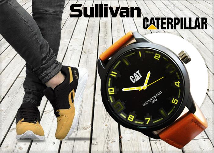 پکیج کفش SALLIVAN و ساعت CAT