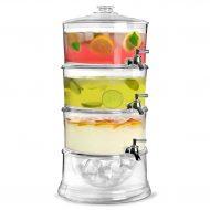کلمن آب سه طبقه شیشه ای ارزان
