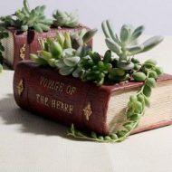 خرید گلدان دکوری طرح کتاب