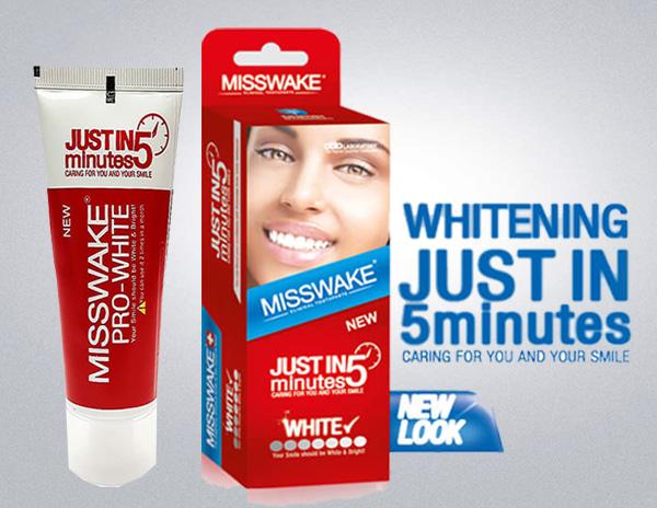 سفید کننده فوری دندان misswake