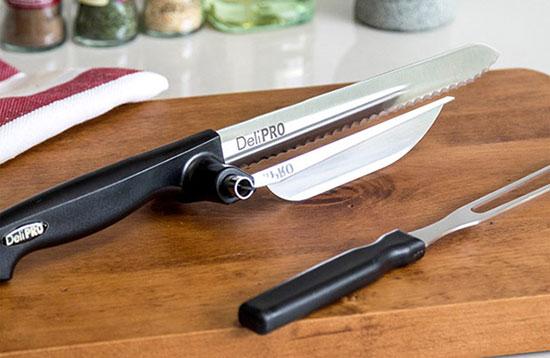 پکیج چاقو برش زن delipro همراه با یک عدد چنگال مخصوص دستگاه برش زن دلیپرو delipro اورجینال دستگاه برش زن delipro