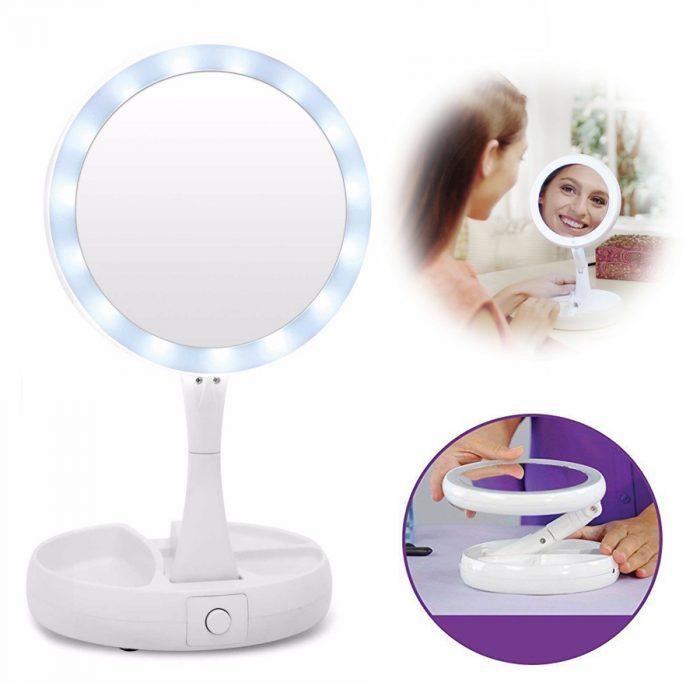 آینه آرایشی تاشو چراغ دار (3)