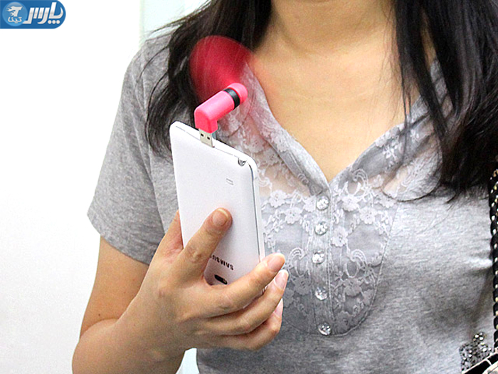 خرید مینی پنکه همراه موبایل (6)